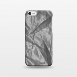 iPhone 5C  Shiny Silver Fabric by Andrea Haase
