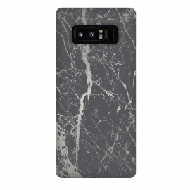 Galaxy Note 8  Elegant Silver Marble by