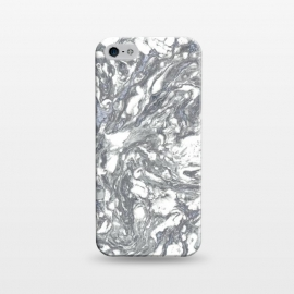 iPhone 5/5E/5s  Grey Blue Marble by Andrea Haase