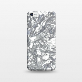 iPhone 5C  Grey Blue Marble by Andrea Haase