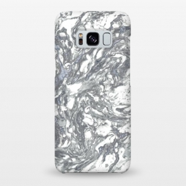 Galaxy S8+  Grey Blue Marble by Andrea Haase