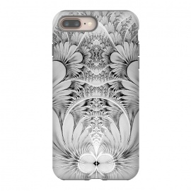 iPhone 8/7 plus  Grey White Florish Fractal by Andrea Haase
