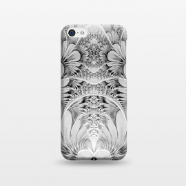 iPhone 5C  Grey White Florish Fractal by Andrea Haase