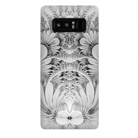 Galaxy Note 8  Grey White Florish Fractal by Andrea Haase