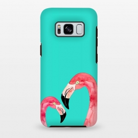 Galaxy S8 plus  Love In Pink by  (love,birds,flamingo,tropical,pink,flamingos,color,minimal)