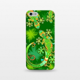 iPhone 5/5E/5s  Gecko Lizard Colorful Tattoo Style by BluedarkArt