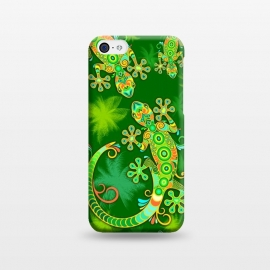 iPhone 5C  Gecko Lizard Colorful Tattoo Style by BluedarkArt