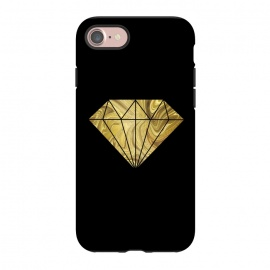 iPhone 8/7  Golden Diamond  Faux Glitter On Black by Andrea Haase