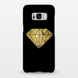 Galaxy S8+  Golden Diamond  Faux Glitter On Black by Andrea Haase