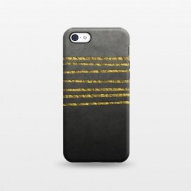 iPhone 5C  Golden Glamour Lines by Andrea Haase