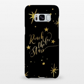 Galaxy S8+  Reach For The Stars Golden Quote by Andrea Haase