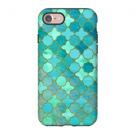 iPhone 8/7  Aqua Moroccan Shapes Pattern  by Utart