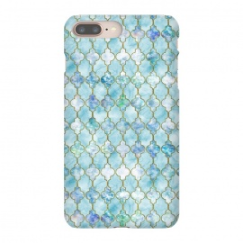 iPhone 8/7 plus  Blue Moroccan Shapes Pattern  by Utart