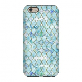 iPhone 6/6s  Blue Moroccan Shapes Pattern  by Utart