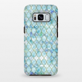 Galaxy S8+  Blue Moroccan Shapes Pattern  by Utart