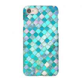 iPhone 8/7  Multicolor Teal Moroccan Shapes Pattern  by Utart