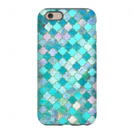 iPhone 6/6s  Multicolor Teal Moroccan Shapes Pattern  by Utart