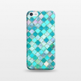 Multicolor Teal Moroccan Shapes Pattern  by Utart