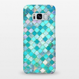 Galaxy S8+  Multicolor Teal Moroccan Shapes Pattern  by Utart