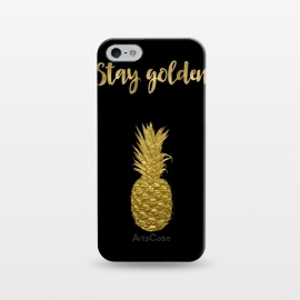 iPhone 5/5E/5s  Stay Golden Precious Tropical Pineapple by Andrea Haase
