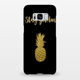Galaxy S8+  Stay Golden Precious Tropical Pineapple by Andrea Haase