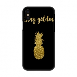 iPhone X  Stay Golden Precious Tropical Pineapple by Andrea Haase