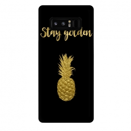 Galaxy Note 8  Stay Golden Precious Tropical Pineapple by