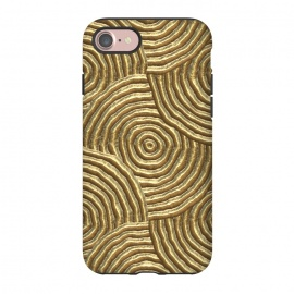 iPhone 8/7  Gold Metal Embossed Circles by Andrea Haase