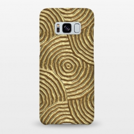 Galaxy S8+  Gold Metal Embossed Circles by Andrea Haase