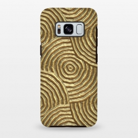 Galaxy S8 plus  Gold Metal Embossed Circles by