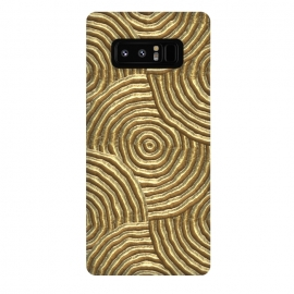 Galaxy Note 8  Gold Metal Embossed Circles by Andrea Haase