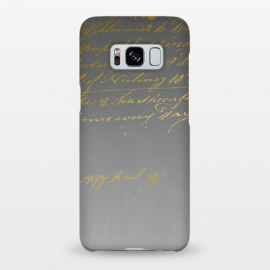 Galaxy S8+  Golden Handwriting by Andrea Haase