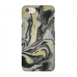 iPhone 8/7  Gold Black Gray Marble by Andrea Haase
