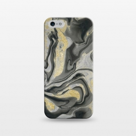 iPhone 5/5E/5s  Gold Black Gray Marble by Andrea Haase