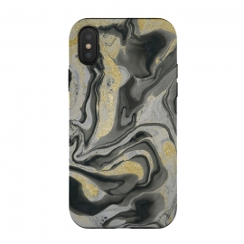 Gold Black Gray Marble by Andrea Haase