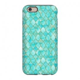 iPhone 6/6s  Multicolor Teal Blue Moroccan Shapes Pattern  by Utart