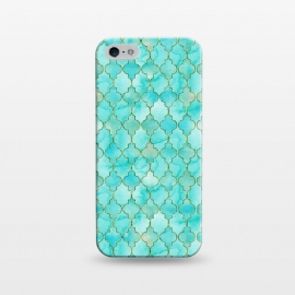 iPhone 5/5E/5s  Multicolor Teal Blue Moroccan Shapes Pattern  by
