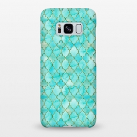 Galaxy S8+  Multicolor Teal Blue Moroccan Shapes Pattern  by Utart