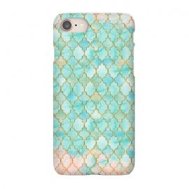 iPhone 8/7  Multicolor Teal Pink Moroccan Shapes Pattern  by Utart