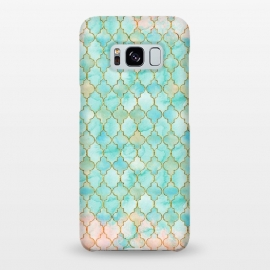 Galaxy S8+  Multicolor Teal Pink Moroccan Shapes Pattern  by Utart