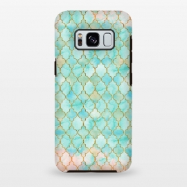 Multicolor Teal Pink Moroccan Shapes Pattern  by Utart