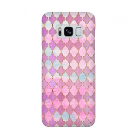 Multicolor Pink Moroccan Shapes Pattern  by Utart
