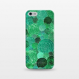 iPhone 5/5E/5s  Green Circles Polka dots Glitter Pattern by Utart
