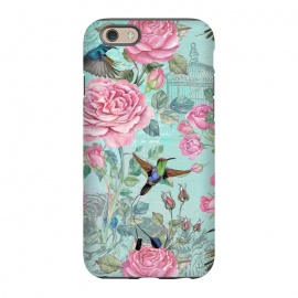 iPhone 6/6s  Vintage Roses and Hummingbirds by Utart