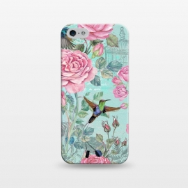 iPhone 5/5E/5s  Vintage Roses and Hummingbirds by Utart
