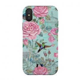 Vintage Roses and Hummingbirds by Utart
