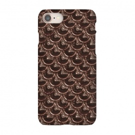 iPhone 8/7  Brown Copper Metal Scales by Andrea Haase