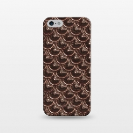 iPhone 5/5E/5s  Brown Copper Metal Scales by Andrea Haase