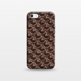 iPhone 5C  Brown Copper Metal Scales by Andrea Haase