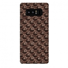 Galaxy Note 8  Brown Copper Metal Scales by Andrea Haase